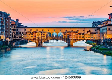 The Ponte Vecchio Bridge In Florence, Italy