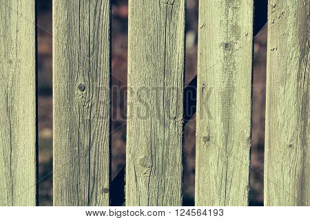 Old Green Distant Boarded Fence