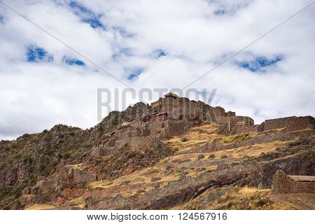 Inca Ruins And Buildings In Pisac, Sacred Valley, Peru