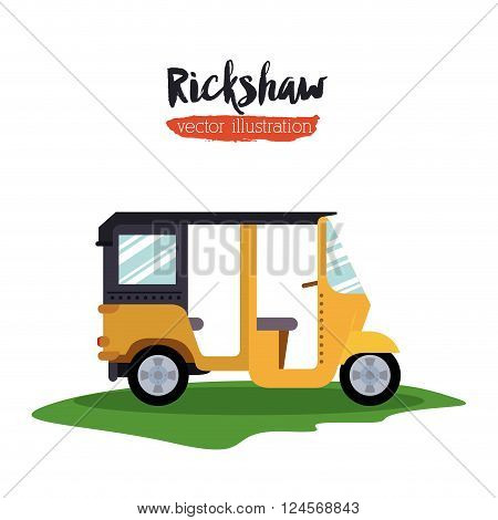 rickshaw transportation design, vector illustration eps10 graphic