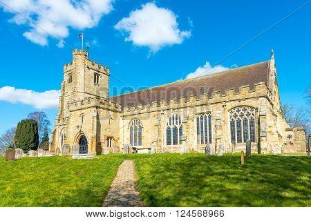 St Laurence Church in the village of Hawkhurst KentUK.
