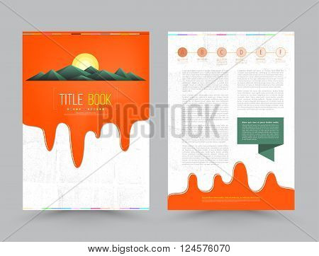 Cover design template. Vector illustration. Use for annual report brochure flyer, Leaflet presentation background, layout in A4 size