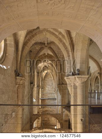 Inner of Monastery of St Clare the Older in the city of Coimbra in Portugal