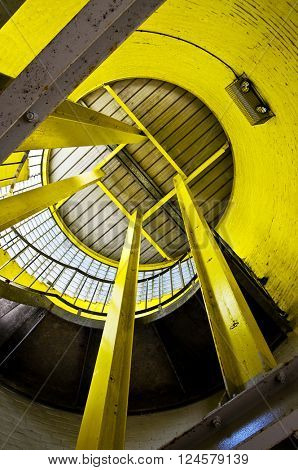 steel structure yellow