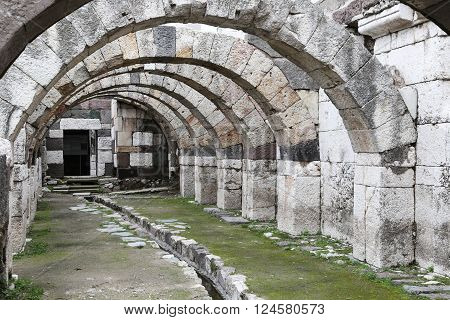 Agora of Smyrna in Izmir city, Turkey