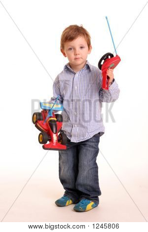 Young Boy With A Toy