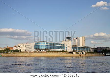 Omsk, Russia - June 21, 2010: Building Of The Former River Station In Omsk, Now  The Cinema 'babylon
