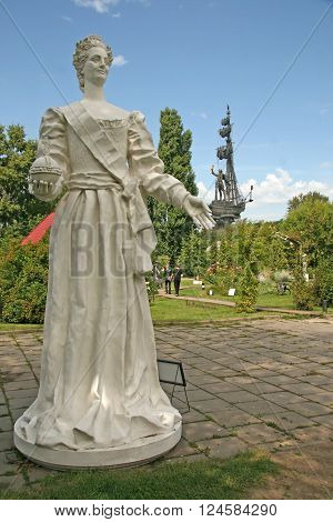 Moscow, Russia - August 02, 2008: The Sculpture