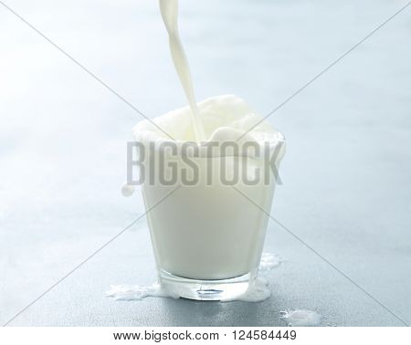 Drink. Milk in a glass