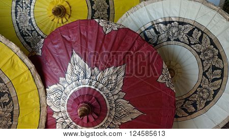 handmade colorful paper umbrellas from bo song ** Note: Soft Focus at 100%, best at smaller sizes