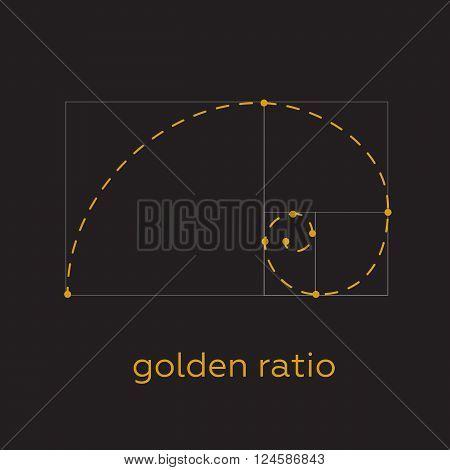 Symbol of the golden ratio tattoo black lines