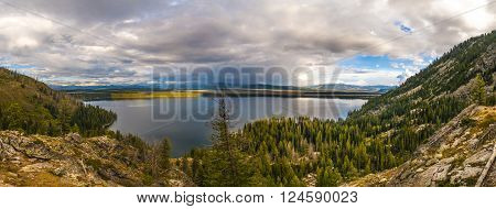 Inspiration Point Grant Teton Jenny Lake Panorama
