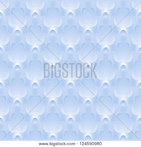 Abstract geometric seamless background. Delicate ellipses and square pattern diagonally in pastel blue shades and white.