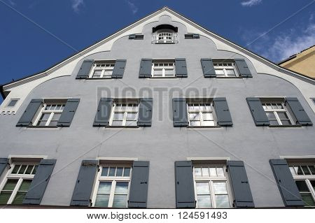 facade of a grey palace in fussen