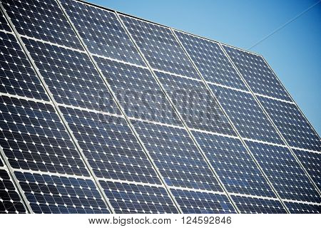 Photovoltaic panel for renewable electric production, Navarra, Aragon, Spain.
