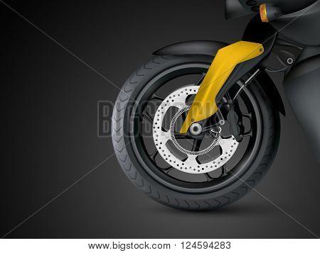 vector motorcycle wheel