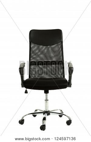 Black Office Chair Isolated On A White