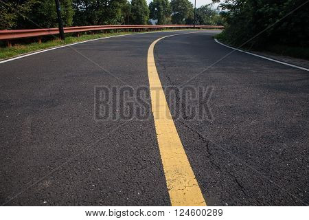 beautiful sun rising sky with asphalt highways road in rural scene use land transport and traveling background backdrop