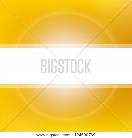 Golden sun light background. Abstract vector background with blurred lights and white space for text