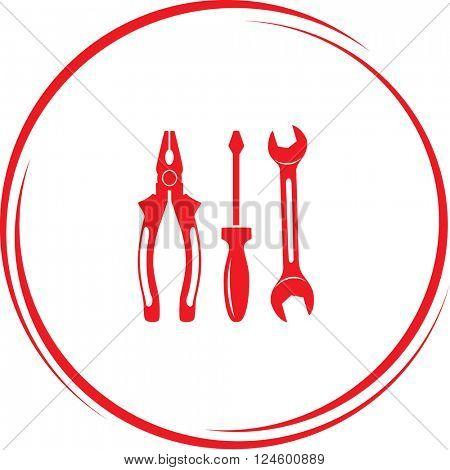 tools. Internet button. Raster icon.