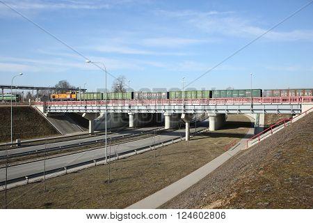 Overpass With Railway Bridge