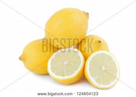 close up of the lemon fruits isolated on white ** Note: Soft Focus at 100%, best at smaller sizes