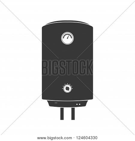 Boiler Icon in flat style isolated on white background. Vector Illustration