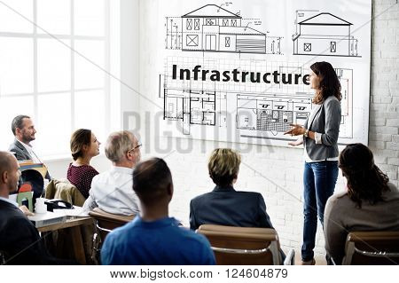 Infrastructure House Exterior Design Drawing Concept