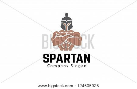Spartan Creative And Symbolic Logo Design Illustration