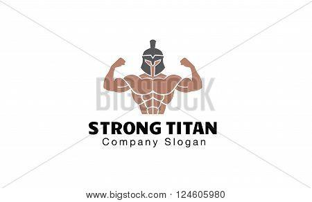 Strong Titan Creative And Symbolic Logo Design Illustration