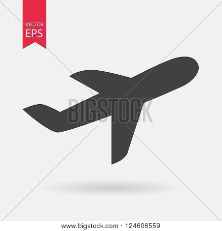 Airplane Icon. Airplane Icon Object. Airplane web icon. Airplane Icon Picture. Airplane Icon Image. Airplane Icon Graphic. Airplane Icon Art. Airplane Icon JPG. Airplane EPS. Vector flat illustration.