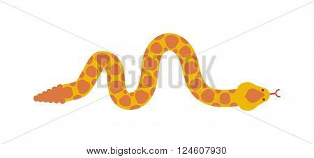 Snake character wildlife nature toxic reptile cartoon vector