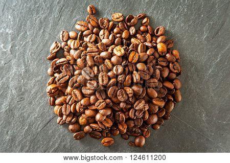 Heap Of Coffee Beans.