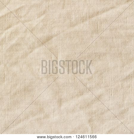 Old canvas burlap sackcloth. Vintage beige fabric texture background.