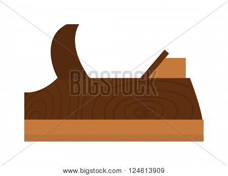 Wood plane tool icons isolated on white background.