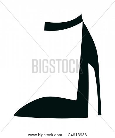 Womens high heels beautiful shoes fashion style footwear cartoon flat vector.