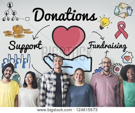 Donation Share Support Fundraising Help Concept