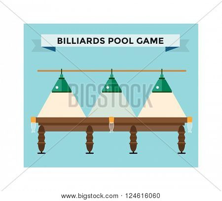 Playing billiard table concept vector illustration