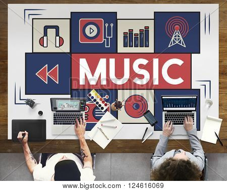 Music Audio Art Instrumental Melody Playing Concept