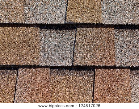 Roofing Shingles Shake Flat Tab Style Pattern