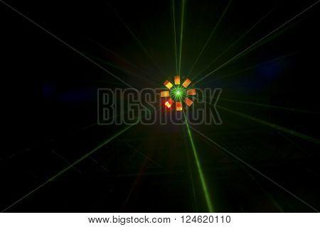 Single Brightly Coloured Disco Light