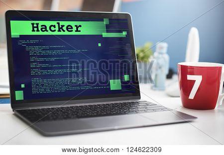 Hacker Technology Internet Content Web Concept
