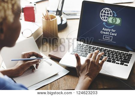 Apply for Credit Card Loan Payment Banking Concept