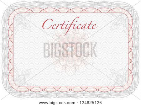 Vector template for certificate, diploma with frame
