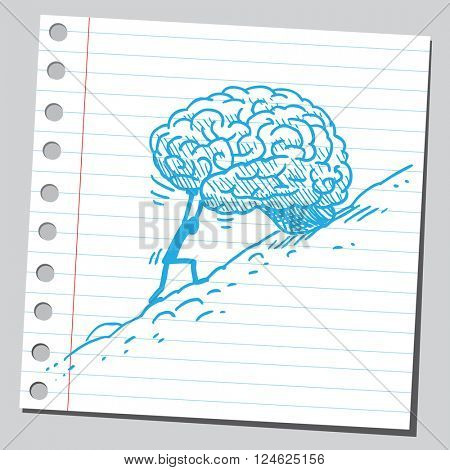 Rolling brain uphill