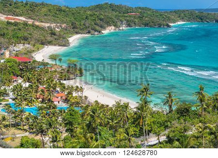 View of the Lapus-lapus beach  Boracay island, Philippines.