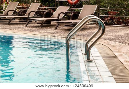 Ladder by The pool of a Common Swiming Pool