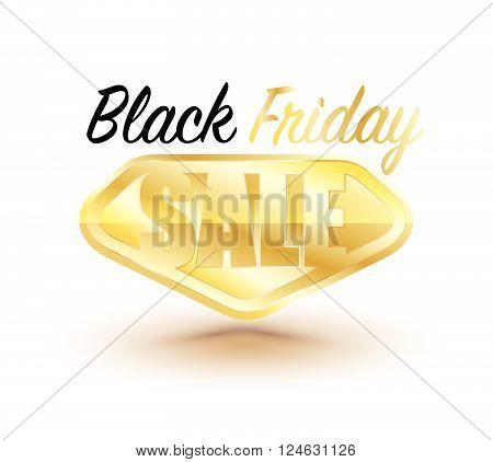 Black Friday Sale design element. Black Friday banner. Vector illustration