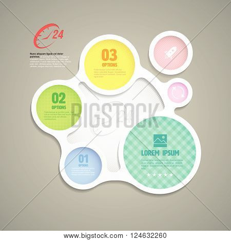 circle group with icons for services twenty four hours. vector illustration.