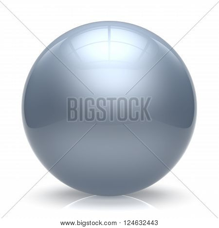 Sphere ball white balloon button round basic circle geometric shape solid figure simple minimalistic element single shiny glossy sparkling object blank atom icon. 3d render